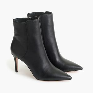 NEW J.Crew Black Pointed Stiletto Ankle Boots 7.5